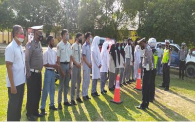 SIMALA (SIM Masuk Sekolah) Polres Aceh Tamiang, Sosialisasi ke SMK Negeri 2 Karang Baru